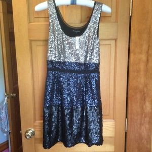 Broadway and Broome MADEWELL Silk and Sequin Dress